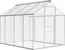 vidaXL Outdoor Aviary Aluminium 178x242x192 cm -