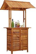 vidaXL Outdoor Bar Table with Rooftop 122x106x217