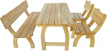 vidaXL Outdoor Dining Set 4 Pieces Impregnated