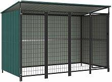 vidaXL Outdoor Dog Kennel 253x133x164 cm - Green