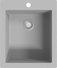 vidaXL Overmount Kitchen Sink Single Basin Granite