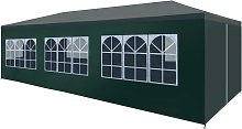 vidaXL Party Tent 3x9 m Green