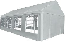 vidaXL Party Tent PE 4x8 m Grey