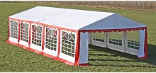 vidaXL Party Tent Top and Side Panels 10 x 5 m Red