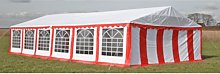 vidaXL Party Tent Top and Side Panels 12 x 6 m Red
