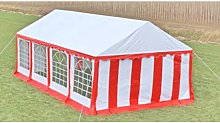 vidaXL Party Tent Top and Side Panels 8 x 4 m Red