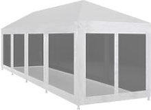 vidaXL Party Tent with 10 Mesh Sidewalls 12x3 m -