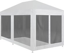 vidaXL Party Tent with 6 Mesh Sidewalls 6x3 m