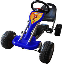 vidaXL Pedal Go Kart Blue - Blue