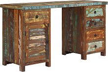 vidaXL Pedestal Desk Solid Reclaimed Wood