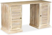 vidaXL Pedestal Writing Desk Solid Mango Wood