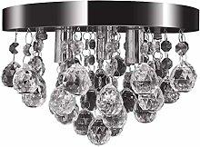 vidaXL Pendant Ceiling Lamp Crystal Design Chrome