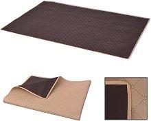 vidaXL Picnic Blanket Beige and Brown 100x150 cm