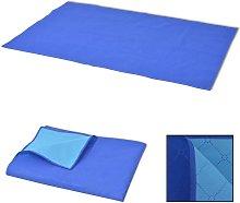 vidaXL Picnic Blanket Blue and Light Blue 100x150