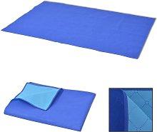 vidaXL Picnic Blanket Blue and Light Blue 150x200
