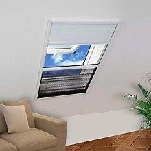 vidaXL Plisse Insect Screen for Windows Aluminium