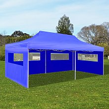 vidaXL Pop Up Gazebo Party Tent Foldable Blue