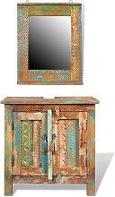 vidaXL Reclaimed Solid Wood Bathroom Vanity