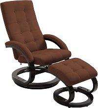 vidaXL Recliner Chair with Footrest Brown