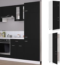 vidaXL Refrigerator Cabinet Black 60x57x207 cm