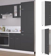 vidaXL Refrigerator Cabinet Grey 60x57x207 cm
