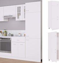 vidaXL Refrigerator Cabinet White 60x57x207 cm