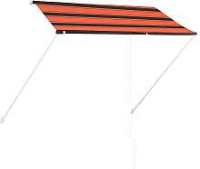 vidaXL Retractable Awning 250x150 cm Orange and