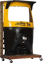 vidaXL Rickshaw Wine Cabinet 100x60x172 cm Solid