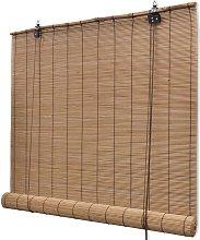 vidaXL Roller Blind Bamboo 100x220 cm Brown - Brown