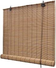 vidaXL Roller Blind Bamboo 150x160 cm Brown - Brown
