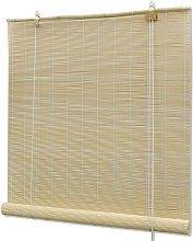 vidaXL Roller Blind Bamboo 80x220 cm Natural -