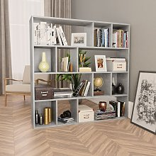vidaXL Room Divider/Book Cabinet Concrete Grey