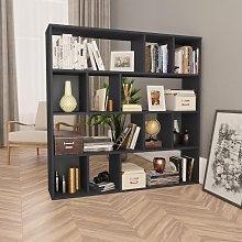 vidaXL Room Divider/Book Cabinet Grey 110x24x110