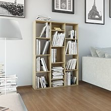 vidaXL Room Divider/Book Cabinet Sonoma Oak