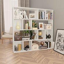 vidaXL Room Divider/Book Cabinet White 110x24x110