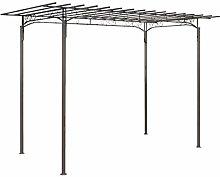vidaXL Rose Arch Garden Arbor Steel Garden