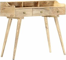 vidaXL Secretary Desk 90x45x86 cm Solid Mango Wood