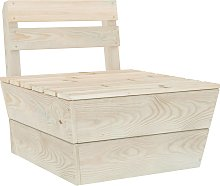 vidaXL Sectional Pallet Middle Sofa Impregnated