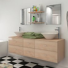 vidaXL Seven Piece Bathroom Furniture and Basin