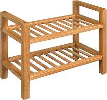 vidaXL Shoe Rack with 2 Shelves 49.5x27x40 cm
