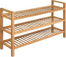vidaXL Shoe Rack with 3 Shelves 100x27x59.5 cm