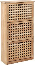 vidaXL Shoe Storage Cabinet 55x20x104 cm Solid