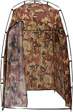 vidaXL Shower/WC/Changing Tent Camouflage - Brown