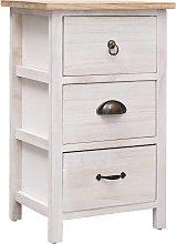 vidaXL Side Cabinet 35x25x57 cm Paulownia Wood