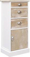 vidaXL Side Cabinet 38x28x86 cm Paulownia Wood