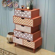 vidaXL Side Cabinet 6 Drawers Brown