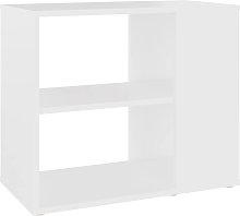 vidaXL Side Cabinet White 60x30x50 cm Chipboard -