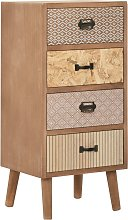 vidaXL Side Cabinet with 4 Drawers Brown