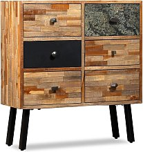 vidaXL Side Cabinet with 6 Drawers Solid Reclaimed