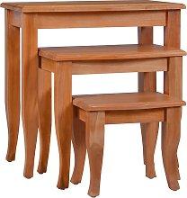 vidaXL Side Tables 3 pcs Solid Mahogany Wood
